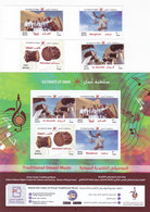 Oman New Issue 2019,Traditionsal Omani Music 4 V.+ S.sheet Cvomplete MNH- Nice Topical -SKRILL PAYMENT ONLY - Oman