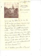 COURRIER-   CHATEAU DE MALUQUER  SAINT FAUST PAR JURANCON  BASSES PYRENEES  10 JUILLET 1940 - Vieux Papiers