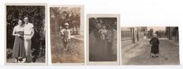 PHOTO - FAMILLE -  4 Photos - Anonyme Personen