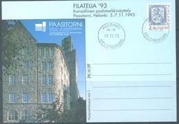 FINLAND - 1993 - USED POSTKARTE 1 - FILATELIA  -  Lot 19447 - Postal Stationery