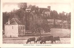 RARE !!! CAZILLAC (46) L'Eglise Et Le Presbytère En 1941 - Autres Communes