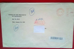 Registered Cover From President Of Mongolia , 1999 - Mongolia