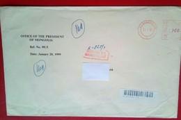 Registered Cover From President Of Mongolia , 1999 - Mongolie