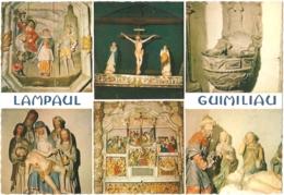 29 - Lampaul - Guimiliau - Multivues (6) : Retable De La Passion, Martyre De Saint Miliau, Poutre De Gloire, Bénitier... - Guimiliau