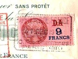 FISCAUX Sur Documents  SFU 214     Sur Lettre De Change   Papeteries De France - Fiscaux