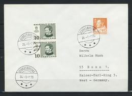 Grönland, Stempel SCORESBYSUND Vom 24.08.1973 Auf Brief Nach Deutschland; B-471 - Storia Postale