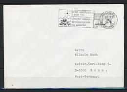 Grönland, Maschinenstempel - Motiv: Weihnachten Vom 22.11.1975 - Stempel-Ersttag - Auf Brief Nach Deutschland; B-916 - Postmarks