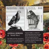 St. Vincent 2018 Fauna  Animal Roles Of WWI ,bird ,dog   I201901 - St.Vincent & Grenadines
