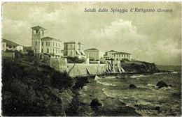 """Italie  SALUTI DALLA  SPIAGGIA  D"""" ANTIGNANA -  ( Livorno ) - Livorno"""