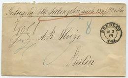 1869 Schöner Wertbriefaus Breslau über 17 Reichsthaler - Norddeutscher Postbezirk