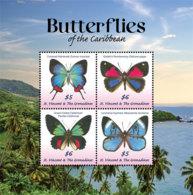 St. Vincent 2019 Fauna Butterflies Of The Caribbean  I201901 - St.Vincent & Grenadines