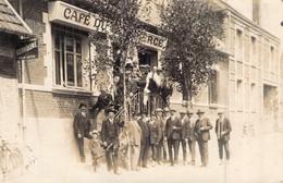 Carte Photo 1927  Café Du Commerce Inauguration Monument Aux Morts De Mortemer 27 1914 1918 Première Guerre Normandie - Altri Comuni