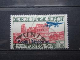"""VEND BEAU TIMBRE DE POSTE AERIENNE DE TUNISIE N° 8 , OBLITERATION """" TUNIS """" !!! - Airmail"""