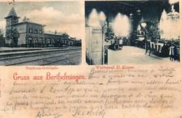 France - 57 - Gruss Aus Berthelmingen - Stations-Gebäude - Wartesaal II Klasse - Frankrijk
