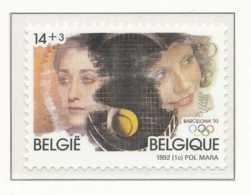 D - [153191]N° 2441, JO D'Albertville 92 à Barcelone, Sports, Tennis Féminin, SNC - Belgium