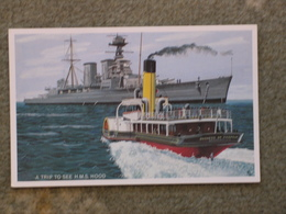 HMS HOOD - ART CARD, MODERN - Warships