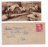 CP MIGNONNETTE - NOUVEL AN - Carte Et Son Enveloppe - Nouvel An
