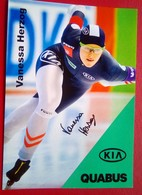 Vanessa Herzog   Signed Card - Skating (Figure)