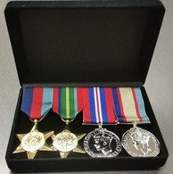 World War Two Set Of 4 Replica Medals - Full Size - In Presentation Box - Medals
