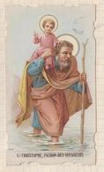 9AL930 CANIVET IMAGE PIEUSE ANCIENNE SAINT CHRISTOPHE - Images Religieuses