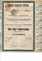42-ETUDES. Sté Fse D'Etudes.Traction Par La Vapeur Et L' Electricité. ST ETIENNE - Shareholdings