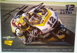 Tom Luthi Signed Card - Authographs