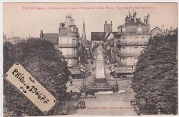 10 Troyes - Cpa / L'Avenue De La Gare Et L'Entrée De La Rue Thiers. - Troyes