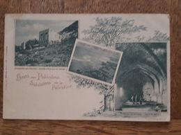 Salutations De La Paléstine - Keller In Athlith / Atlit, Cave - Ruines Du Port De Tantura - Grotte D'Elie Sur Le Carmel - Palästina