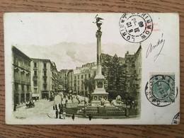 CPA, Napoli, Piazza Dei Martiri, écrite En 1909, Timbre - Napoli (Naples)