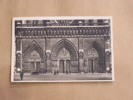 PARIS Cathédrale Notre-Dame De Paris Animée Façade Portails Galerie Des Rois Front Side CPA Carte Postale France - Notre Dame De Paris
