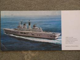 HMS INVINCIBLE - RICHARD WARD ART CARD - Warships
