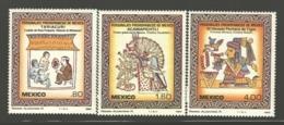 Mexico - Mexique 1982 Yvert 982-84, Pre-Columbian Characters II - MNH - México