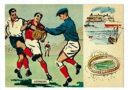 Sweden,postcard, Soccer,football, World Cup- 1958 Goteborg 15.6.58 - Fußball-Weltmeisterschaft