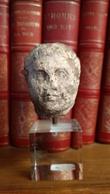 Petite Tête Romaine En Calcaire - Probablement Titus - Archéologie