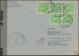 3 AM-Post 5x 5 Pf. MeF Auf Zensur-Brief GERABRONN 27.4.46 Nach Leipzig / SBZ - Briefmarken