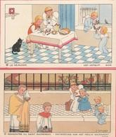 Images Religieuses : Illustrateur - J. GOUPPY : Format 11cm X 6,5cm  ( Lot De 2 Images ) - Andachtsbilder