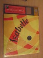 Paire De Bas Nylon INDEMAILLABLE De Marque ISABELLE Neuf Jamais Porté Sans Couture , Couleur CHAIR CLAIRE , T. 35/36 - Vintage Clothes & Linen