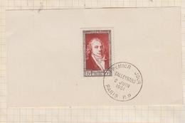 9AL851 1er Jour L Talleyrand N°895 1951 Sur Carton - Frankrijk