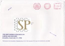 Israel 1994 Red Meter Hadassah Medical Organization World Congress Labor Delivery Ginecologia Gynecology Gynécologie - Médecine