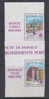 Europa Cept 1990 Monaco 2v  From M/s (gutter) ** Mnh (42659) - Europa-CEPT