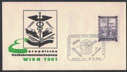 IN17  Österreich, Sonderstempel 1961- Europäische Konferenz Der Verkehrsminister Tagung - Wien - Affrancature Meccaniche Rosse (EMA)