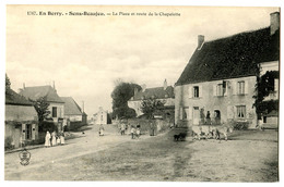 CPA 18 SENS BEAUJEU Place Et Route De La Chapelotte - Frankrijk