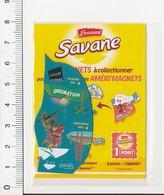 Magnet Publicité Brossard Savane Carte D'Amérique Pont De San Francisco Hollywood Etats-Unis Animal Caméléon IM39/14 - Magnets