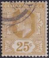 Ceylon    .   SG  .     272       .       O     .   Cancelled        .   /    .  Gebruikt - Ceylon (...-1947)