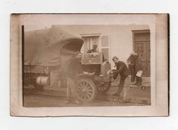 CPA Photo Camion Ancien Peut-être Vers 1900-1910 Militaire? - Camions & Poids Lourds