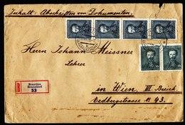 A6192) Czechoslovakia R-Brief Bransdorf 11.08.36 N. Wien - Briefe U. Dokumente