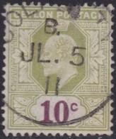 Ceylon    .   SG  .     294        .       O     .   Cancelled        .   /    .  Gebruikt - Ceylon (...-1947)