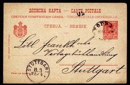 A6193) Serbia Serbien Karte Belgrad 20.04.05 N. Stuttgart - Serbien