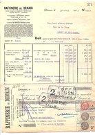1935  FACTURE + TRAITE RAFFINERIE DE DENAIN - Frankrijk