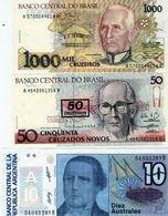 Lot De 3 Billets - 2 Du Brésil Et 1 Du L'argentine - Neuf - Other - America